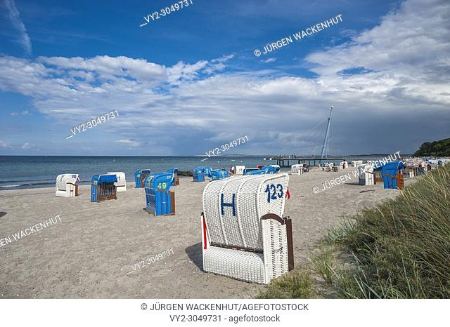 Beach at the Hohwachter Bucht, Hohwacht, Baltic Sea, Schleswig-Holstein, Germany, Europe