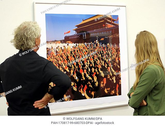 """A photo of the main gate of the Forbidden City in Beijing is shown at exhibition """"""""Works in history. Contemporary Chinese photography and the Cultural..."""
