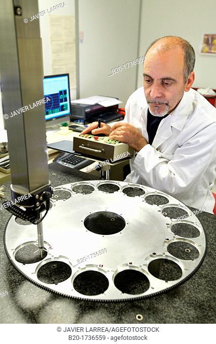 Filter wheel  Dimensional Metrology Laboratory  EMIR project, Instituto Astrofisica de Canarias IAC, La Laguna, Tenerife, Canary Islands