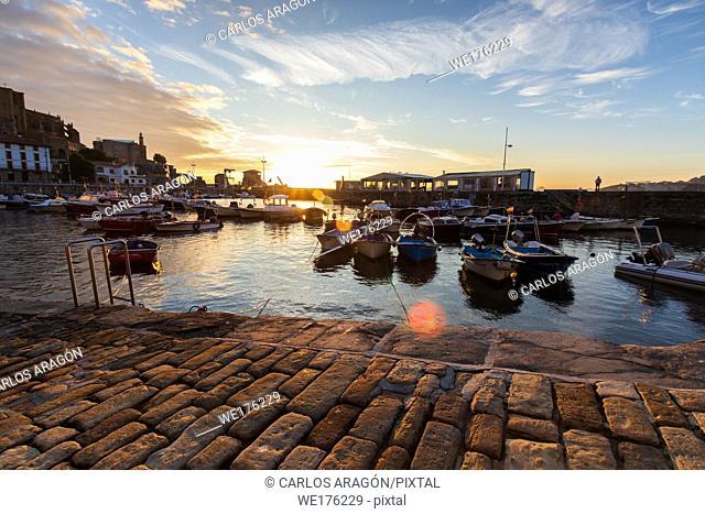 Sunrise in the beautiful port of Castro Urdiales, Cantabria