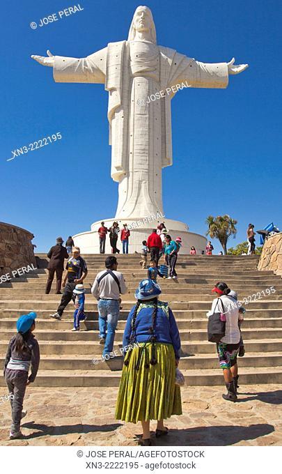 Cristo de la Concordia Christ of Peace, statue of Jesus Christ, San Pedro Hill, Cochabamba, Bolivia, South America