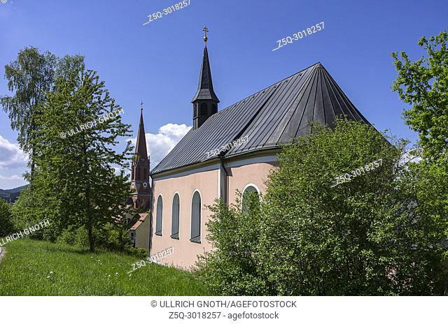 The pilgrimage church of Mary's Name (Maria Namen) in Zwiesel, Bavarian Forest, Bavaria, Germany