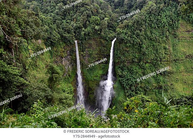 Tad Fane waterfall,Bolaven Plateau,Pakse,Laos,Southeast Asia