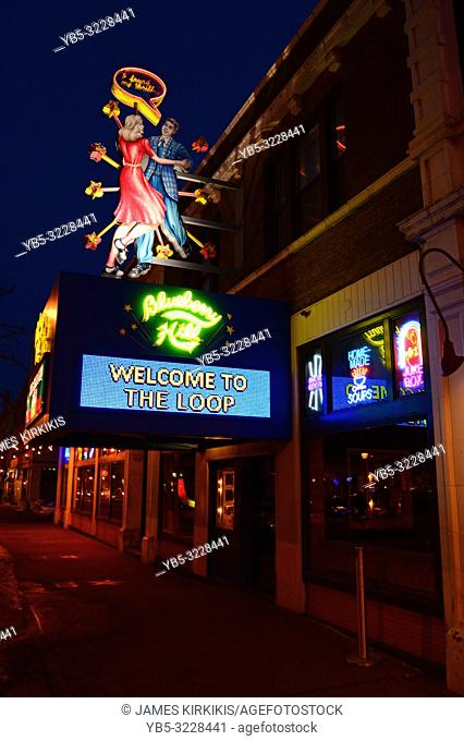 A welcome marquee in Blueberry Hill, St Louis