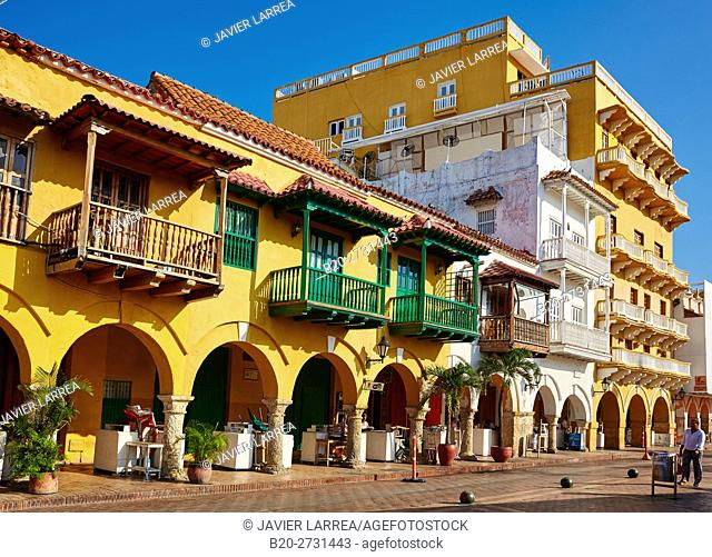 Plaza de Los Coches, Cartagena de Indias, Bolivar, Colombia, South America