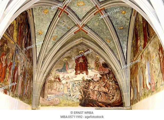 Mural painting in the New Year's Eve chapel, cathedral inside, Constance, Lake of Constance, Baden-Wurttemberg, Germany