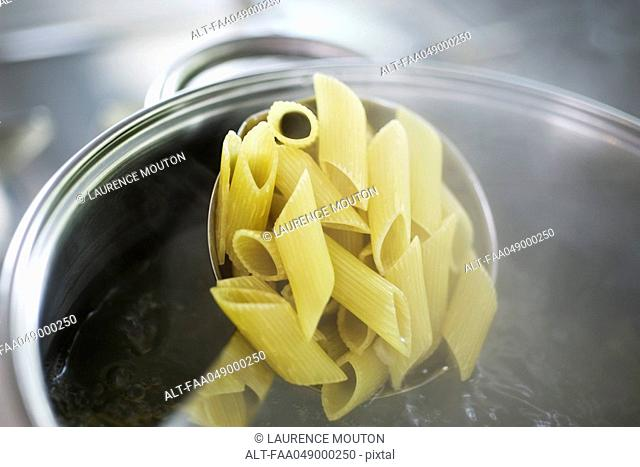 Cooking penne pasta