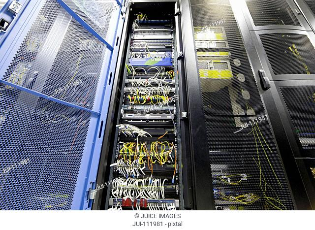 Server cabinet in data centre