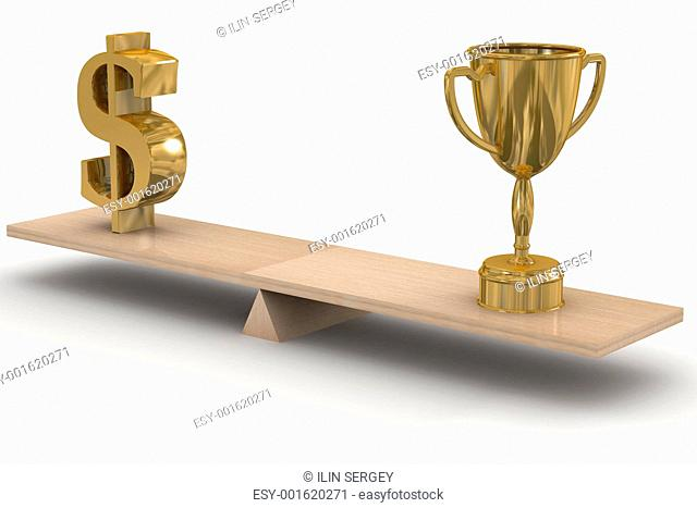 Sports and business. 3D image