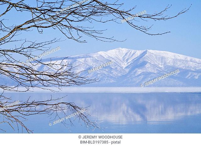Mountain and Lake Kussharo