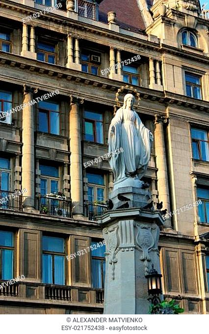great and nice sculpture of God's mother Maria in Lvov