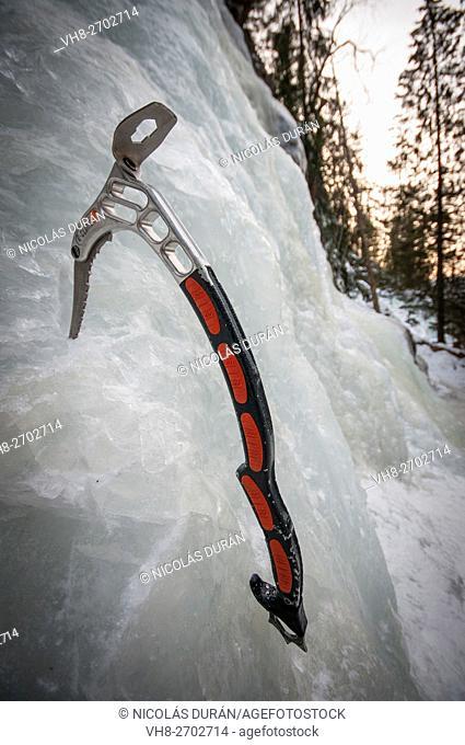 Ice tool. Piolet. Rjukan. Norway
