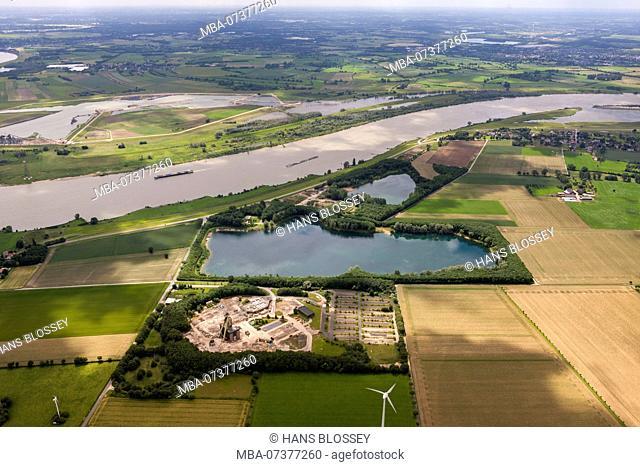 Aerial view, former Voerde mine, Voerde mine, Voerde (Lower Rhine), Ruhr area, Lower Rhine, North Rhine-Westphalia, Germany, Europe