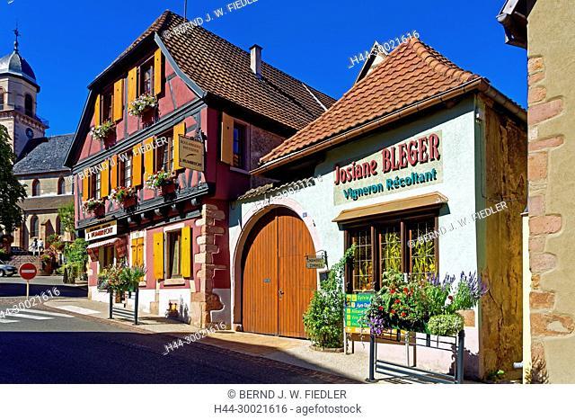 Haus, historisch, 1601, Bäckerei, Konditorei, Weinhandel, Kirche, Eglise Saint-Hippolyte