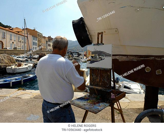 Port Vendres Pyrenees Oriental Languedoc France Artist,Painting