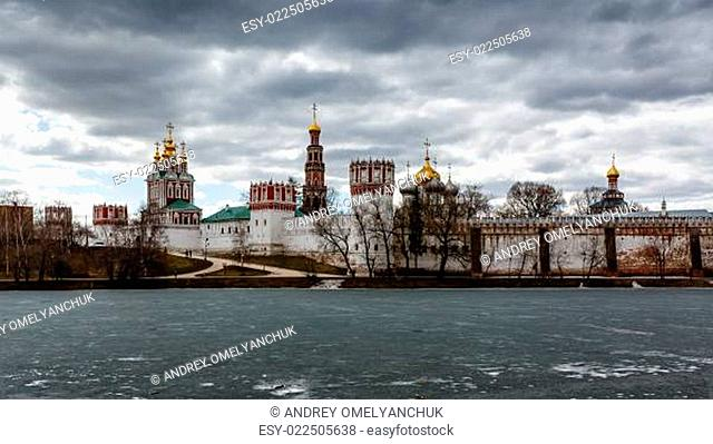 Dramatic Clouds above Novodevichy Convent, Moscow, Russia