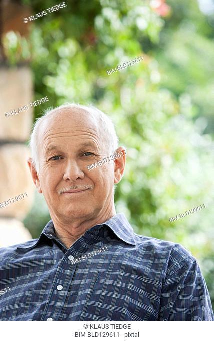 Senior Caucasian man outdoors