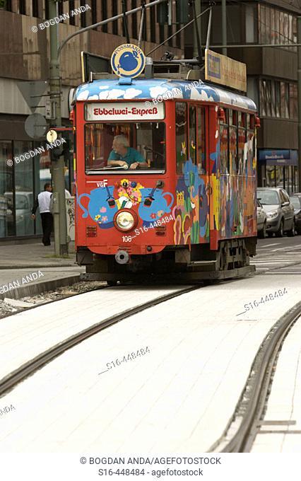 Frankfurt am Main, Germany - Funny decorated tram