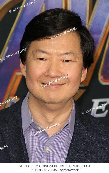 """Ken Jeong at The World Premiere of Marvel Studios' """"""""Avengers: Endgame"""""""" held at the Los Angeles Convention Center, Los Angeles, CA, April 22, 2019"""