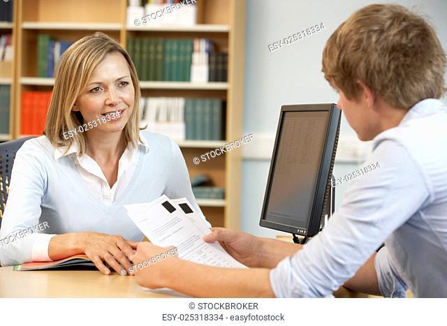 College tutor at work