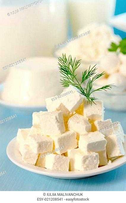 Feta cheese with dill