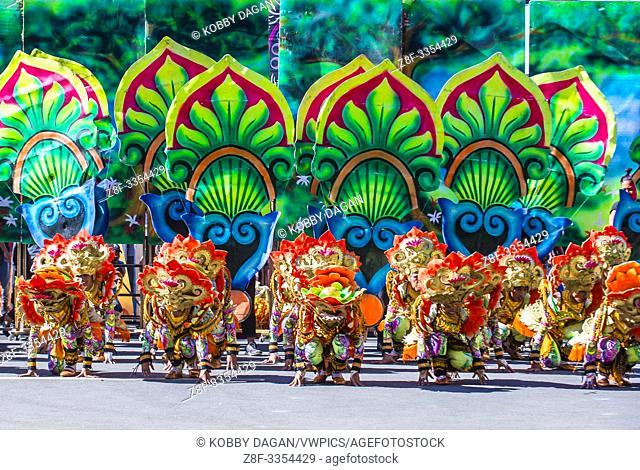 Participants in the Dinagyang Festival in Iloilo Philippines