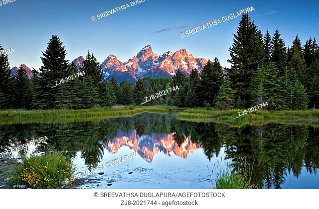 Grand teton reflection, Wyoming