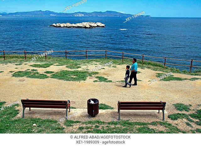 promenade, L'Escala, Costa Brava, Catalonia, Spain