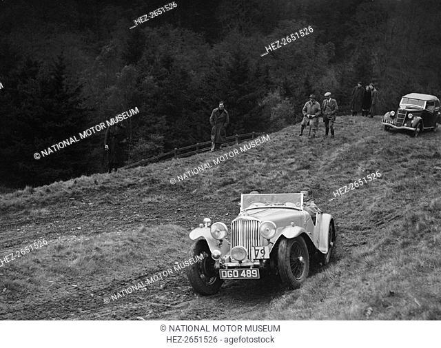 AC 1991 cc. Vehicle Reg. No. DGO489. Entry No: 79. Driver: Jaques, L.P. Background: Ford CX 1936 1172 cc. Reg. No. ST8754