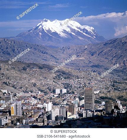 La Paz ( Mt. Illimani, Bkgrd.) Bolivia