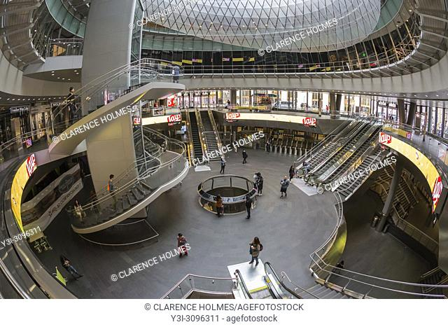 An inside view of the Fulton Center in New York City