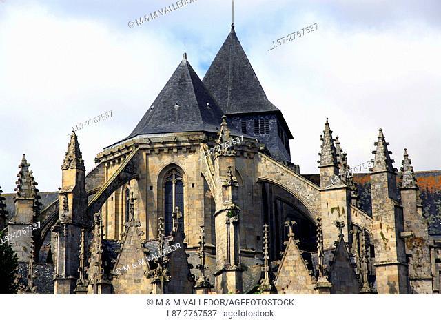 Saint Malo church in Dinan, Cotes d'Armor, Bretagne, France, Europe