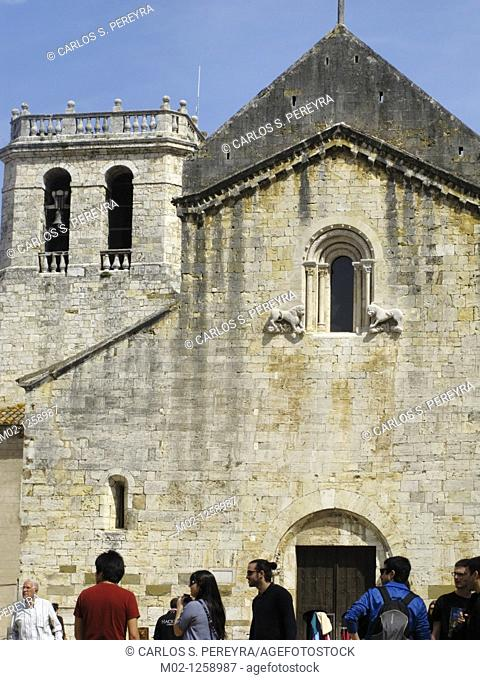 Romanesque church of Sant Pere, Besalu, Girona province, Catalonia, Spain