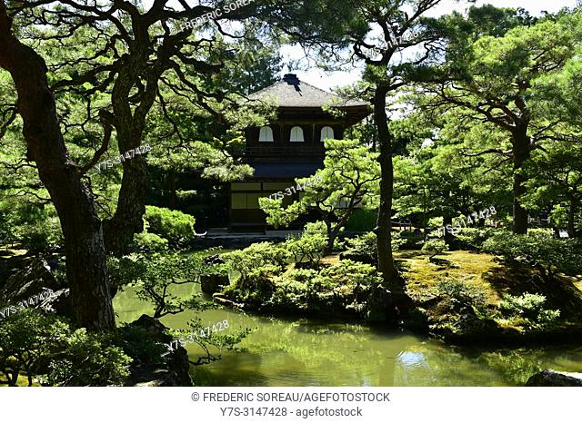 The Silver Pavillon, Ginkaku-ji (Buddhist temple), Kyoto, Japan, Asia