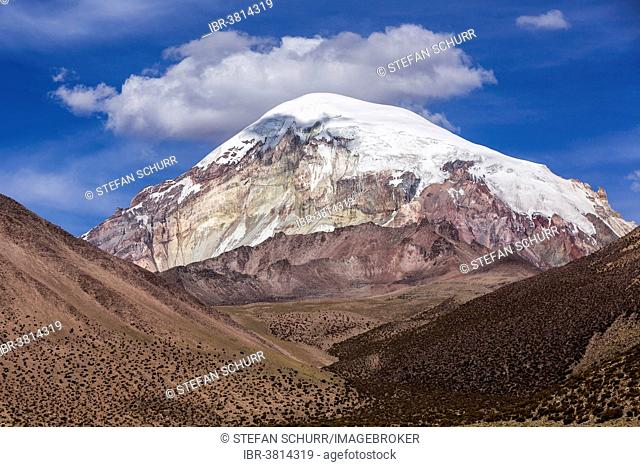 Sajama Volcano, Sajama National Park, Altiplano Highlands, Bolivia