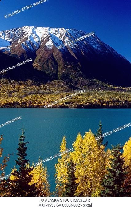 Kenai Lake Fall Scenic Kenai Peninsula AK