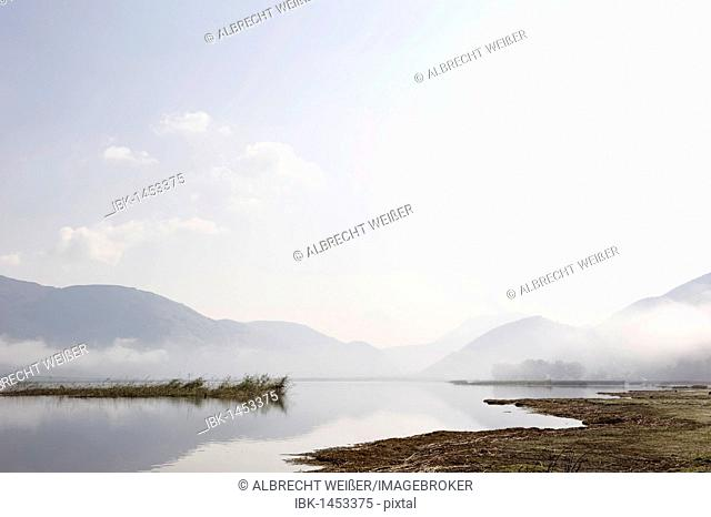 Lago del Matese lake in the Parco del Matese regional park, Campania, Molise, Italy, Europe
