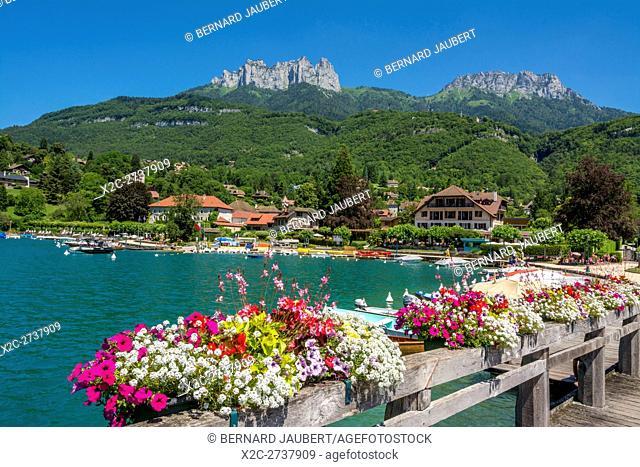 Lake d'Annecy at Talloires, Haute-Savoie, France, Europe