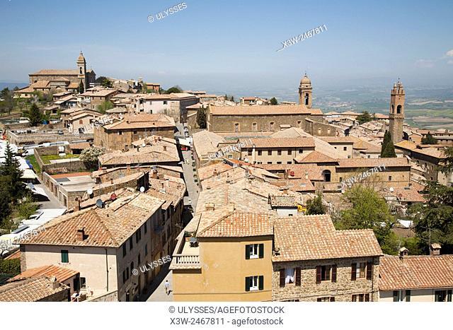 cityscape, Montalcino, Tuscany, Italy, Europe