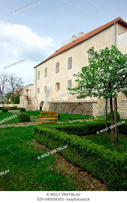 Garden of Novy Hrad Chateau, Jimlin, Louny District, Usti nad Labem Region, Czech Republic