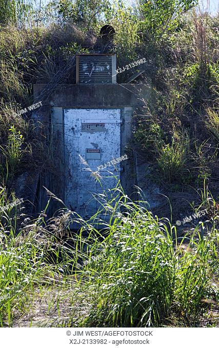 Everglades National Park, Florida - A crew bunker at an historic Nike Hercules anti-aircraft missle site, 160 miles from the coast of Cuba