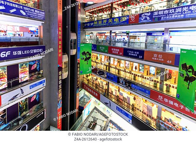 Interior of the HQ Mart one of the biggest mall selling electronic devices in Shenzhen