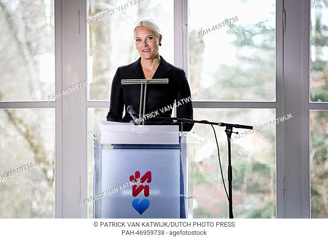 Crownprincess Mette-Marit of Norway visits the Constitution hall in Eidsvoll, Norway, on International Women's Day 8 March 2014