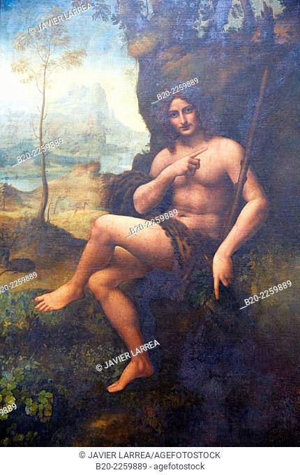 Saint Jean Baptiste - Bacchus. Léonard de Vinci. Louvre Museum. Paris. France
