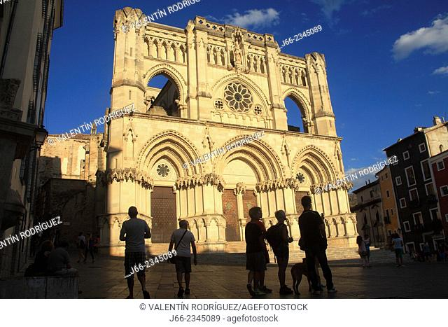 Facade of the cathedral. Cuenca. Spain