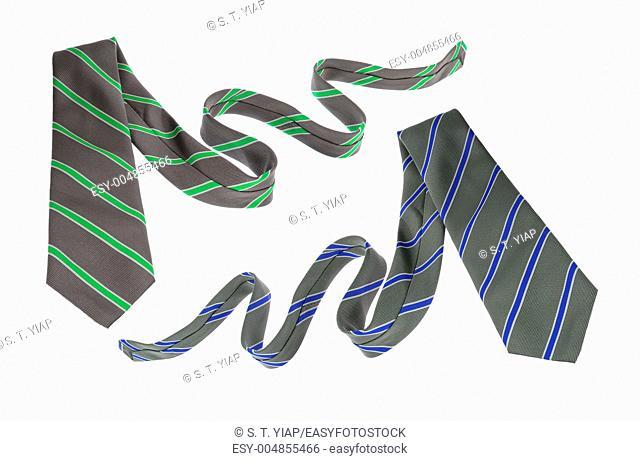 Neckties on White Background