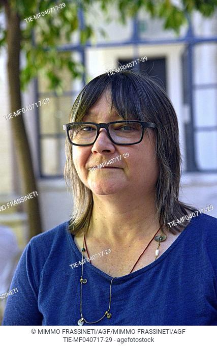 The writer Ali Smith poses for photographers during the International Literatures Festival 2017, Rome, ITALY-04-07-2017