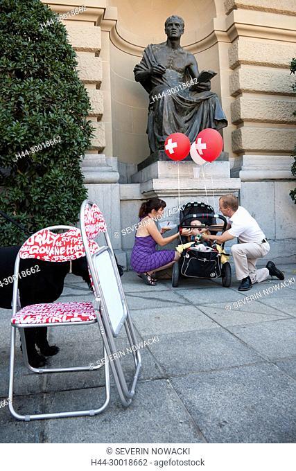 Switzerland Bern SVP Demonstration