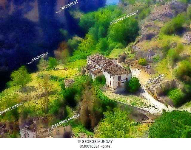 The Old Mill in the gorge below Alhama de Granada