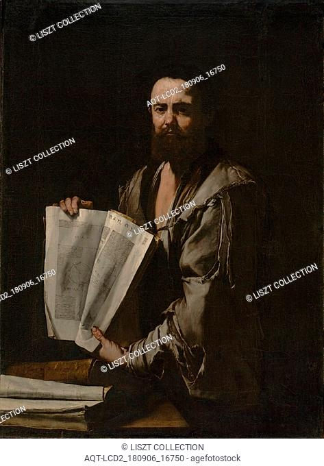Euclid; Jusepe de Ribera (Spanish , Italian, 1591 - 1652); Spain; about 1630 - 1635; Oil on canvas; 125.1 × 92.4 cm (49 1,4 × 36 3,8 in.)